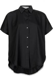 Блуза прямого кроя с перфорацией Stella McCartney