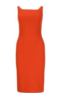 Приталенное миди-платье на бретельках Dolce & Gabbana