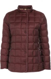 Стеганая куртка на заклепках с воротником-стойкой Fay