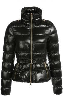 Стеганая куртка с поясом и высоким воротником Burberry Brit