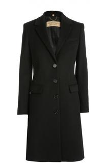 Шерстяное пальто прямого кроя Burberry