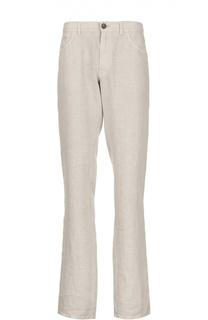 Прямые льняные брюки Brioni