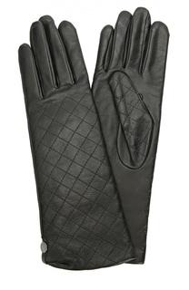 Кожаные перчатки с прострочкой Agnelle
