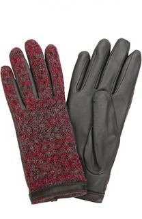 Кожаные перчатки с отделкой из шерсти Agnelle
