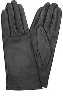 Кожаные перчатки с подкладкой из шелка Agnelle