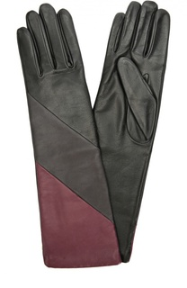 Удлиненные кожаные перчатки с подкладкой из шерсти Agnelle