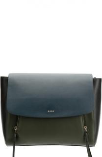 Сумка Messenger из комбинированной кожи DKNY