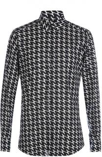 Хлопковая рубашка с узором в виде револьверов Dolce & Gabbana