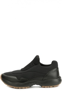 Комбинированные кроссовки на резиновой подошве Dior
