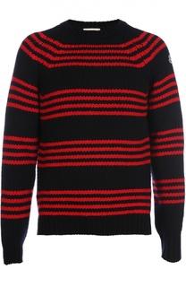 Шерстяной свитер в полоску Moncler