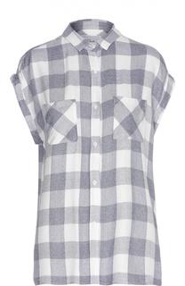 Блуза в клетку без рукавов с накладными карманами Rails