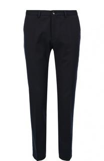 Шерстяные брюки зауженного кроя BOSS