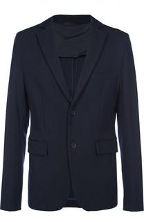 Приталенный однобортный пиджак BOSS