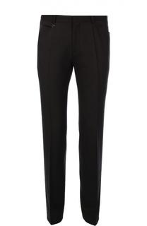 Классические шерстяные брюки зауженного кроя HUGO