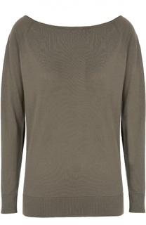 Шерстяной пуловер с вырезом-лодочка Theory