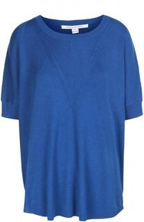 Пуловер свободного кроя с круглым вырезом и коротким рукавом Diane Von Furstenberg