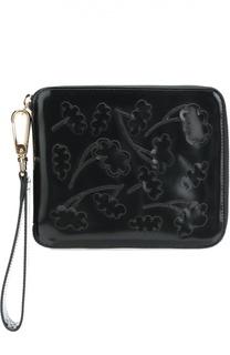 Клатч из лаковой кожи с аппликациями Simone Rocha