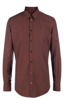 Хлопковая рубашка с узором Polka Dot Dolce & Gabbana