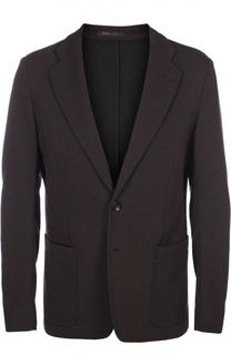 Однобортный пиджак в мелкую полоску Armani Collezioni