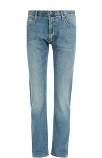 Зауженные джинсы с потертостями Armani Jeans