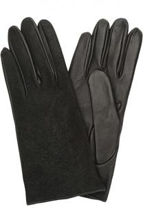 Перчатки из комбинированной кожи Sermoneta Gloves