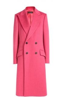 Двубортное пальто прямого кроя с широкими лацканами Dolce & Gabbana