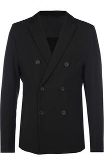 Приталенный двубортный пиджак BOSS