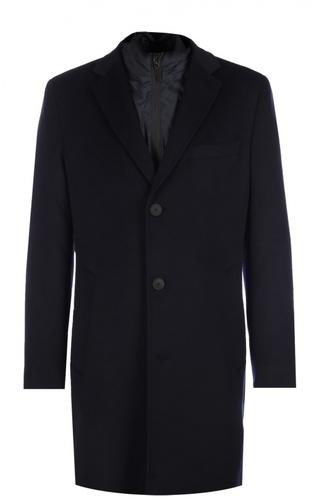 Пальто из смеси шерсти и кашемира с подстежкой BOSS