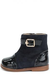 Комбинированные ботинки с перфорацией Clarys