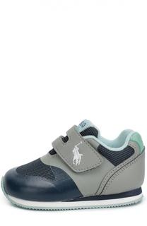 Текстильные кроссовки с застежкой велькро Polo Ralph Lauren