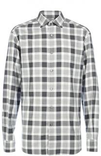 Хлопковая рубашка в клетку Ermenegildo Zegna
