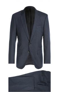 Приталенный костюм из смеси шерсти и кашемира BOSS