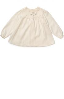Блуза из вискозы с вышивкой Tartine Et Chocolat