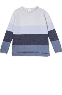 Пуловер джерси с принтом Kuxo Cashmere