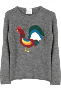 Пуловер джерси с принтом Stella Jean