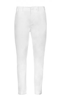 Хлопковые брюки-слаксы с карманами No. 21