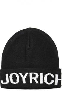Вязаная шапка с логотипом бренда Joyrich