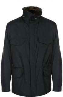 Куртка с капюшоном и воротником Loro Piana