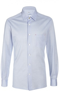 Рубашка из хлопка пике Kiton