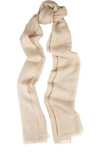 Шарф из кашемира и шелка с вышивкой пайетками Loro Piana