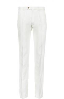 Зауженные брюки из смеси хлопка и льна Loro Piana