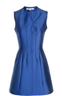 Приталенное мини-платье с декоративной отделкой Carven