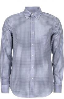 Хлопковая рубашка в клетку с воротником button down Loro Piana