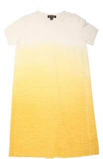 Платье из смеси кашемира, льна и шелка в технике деграде Loro Piana