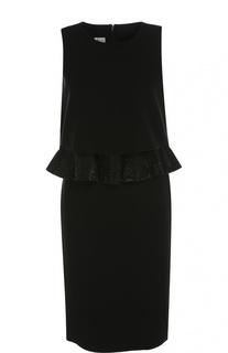 Платье прямого кроя без рукавов с декоративной отделкой Armani Collezioni