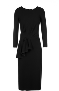 Облегающее платье с длинным рукавом и драпировкой Armani Collezioni