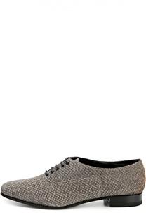 Текстильные ботинки Lulu с зауженным мысом Saint Laurent