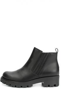 Кожаные ботинки на массивной подошве Gallucci