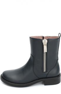 Кожаные ботинки с боковой молнией Gucci