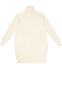 Пуловер с высоким воротником и отделкой Kuxo Cashmere